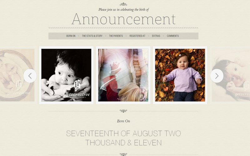 Announcement template